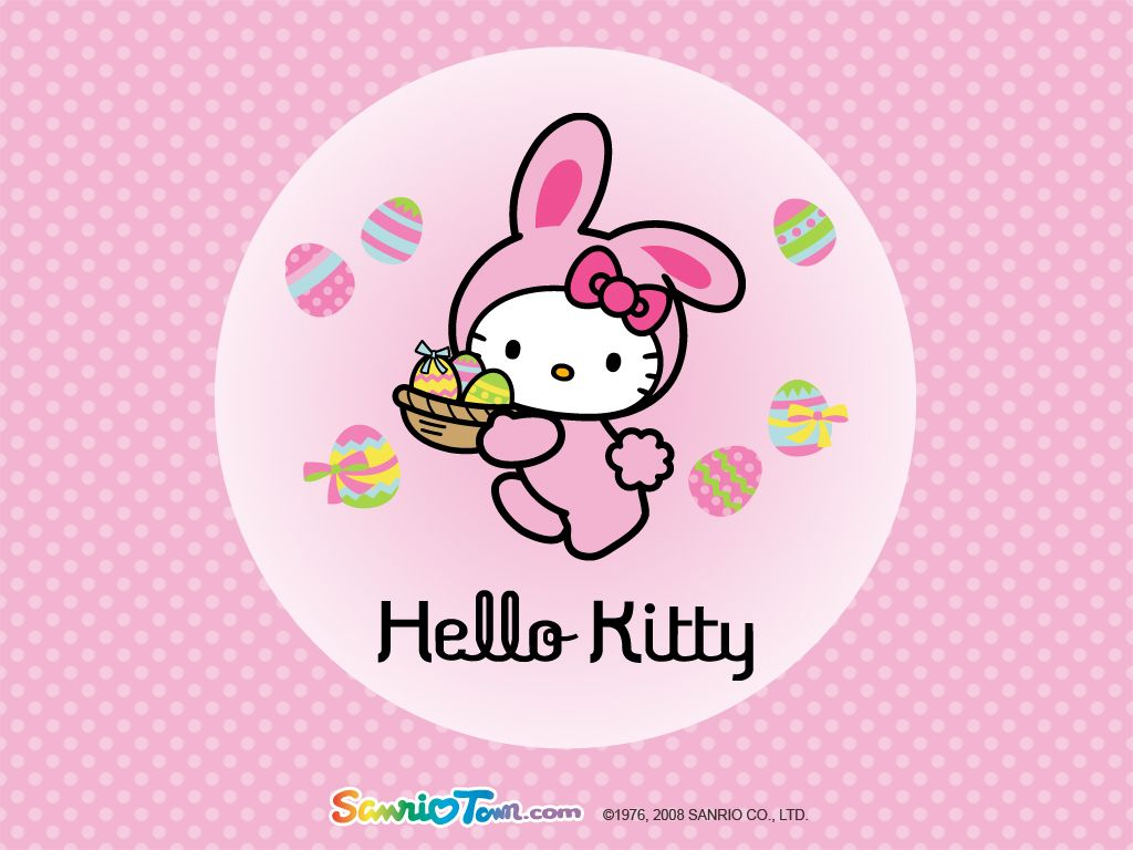 Coloriage Paques Hello Kitty.Hello Kitty Paques